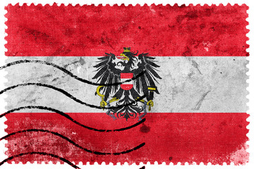 Austria Flag - old postage stamp