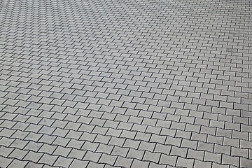 area of ceramic bricks herringbone pattern