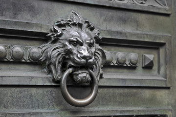 old ironwork lion knocker