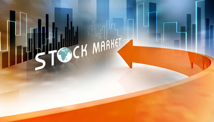 Economical Stock market concept