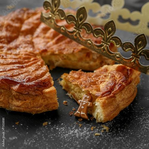 Papiers peints Dessert galette des rois et santon