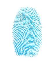 photo fingerprint isolation on white background