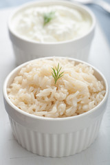 Turkish Pilaf and Yogurt