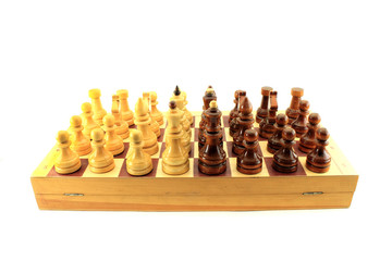 The chess. Isolated object on white background.