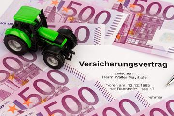 Versicherungsvertrag für neuen Traktor