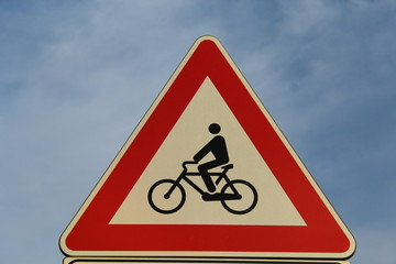 Danger cyclist