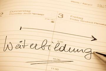 Eintrag im Kalender: Weiterbildung
