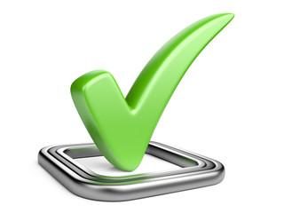 Check box with green check mark