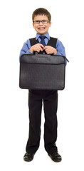 boy in suit with briefcase