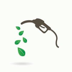 Gasoline pump with bio fuel eco background