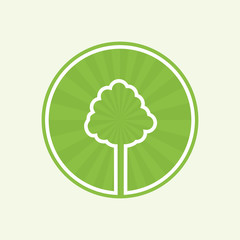 Natural product or garden green icon isolated