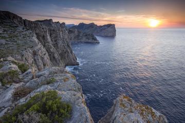 Watchig Sunset On The Cliffs Of Cap De Formentor