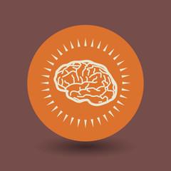 Brain symbol, vector
