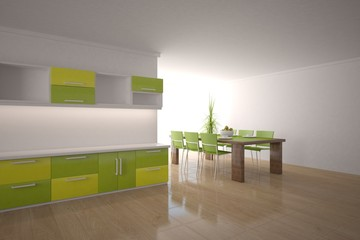 white 3d kitchen