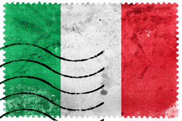 Italy Flag - old postage stamp