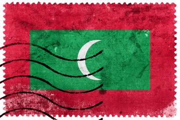Maldives Flag - old postage stamp