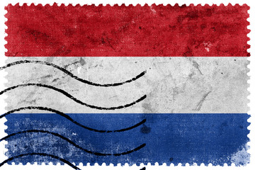 Netherlands Flag - old postage stamp