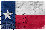 Texas State Flag - old postage stamp - 75042722