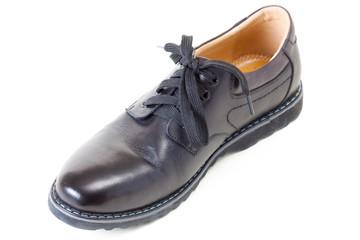 one men's stylish black leather shoe