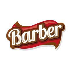 Vintage barber shop logo, label or badge