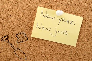 New year sticker new job