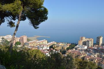 Málaga, costa, mar, panorámica, Andalucía