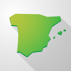 green Spain map icon