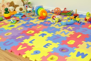 Spielecke im Kinderzimmer