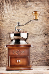 Coffee grinder with a handle