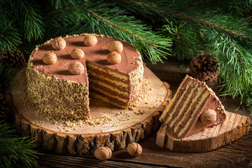 Piece of forest cake