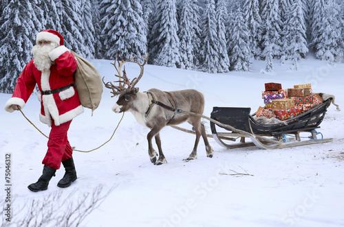 Leinwanddruck Bild Nikolaus
