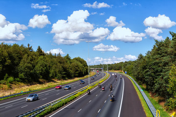 View of the roads in Doorwerth Netherlands.  With 139,295 km of