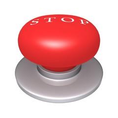 Stop Button 3d illustration