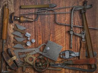 vintage jeweler tools and diamonds