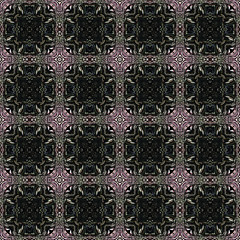 Abstract seamless pattern with black mosaic