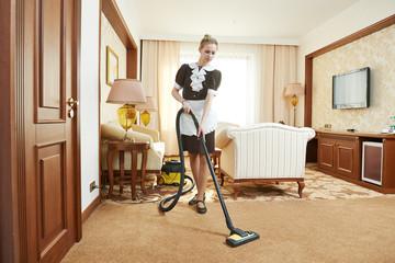 chambermaid at hotel service