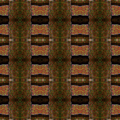 Seamless pattern with embossed bars and metal strips