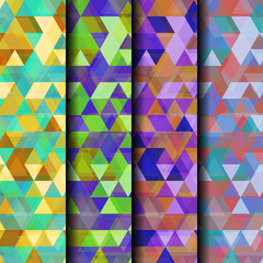 Beautiful Triangle Vector Set Background
