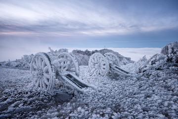 Winter on Shipka peak
