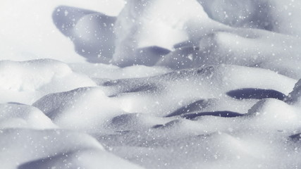 winter background with falling snow (looping)