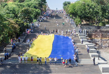 Independence Day Celebration on the Potemkin stairs