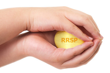 Golden Canadian retirement RRSP concept