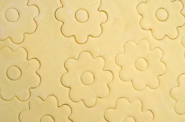 impasto dei biscotti canestrelli in pasticceria