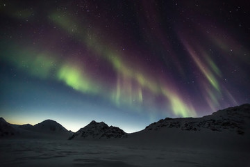 Northern Lights above the Arctic mountains
