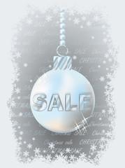 Christmas sale banner, vector illustration