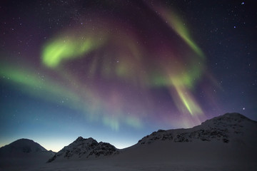 Northern Lights over the Arctic ARchipelago of Svalbard