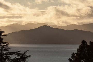 Afternoon Light on Marin Headlands, California