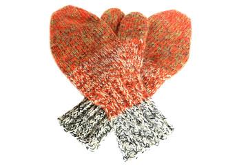 お婆ちゃんの手編みのミトン手袋