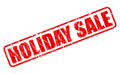 Holiday sale red stamp text