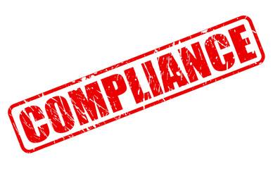 Compliance red stamp text